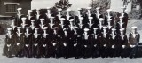 1958, 11TH FEBRUARY - ADRIAN CROSS, HAWKE AND THEN DUNCAN DIVISIONS, 222 CLASS, PASSING OUT WITH HAWKE BUNTINGS, [T] AND [G], D.