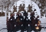 1958, 11TH FEBRUARY - ADRIAN CROSS, HAWKE AND THEN DUNCAN DIVISIONS, 222 CLASS PASSING OUT, C.