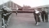 1958-1959 - JOHN POTTER, ANSON, 201, BUNTINGS CLASS, QUEENS VISIT, INSPECTING THE GUARD AT HARWICH.jpg