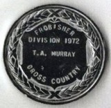 1972, 27TH JUNE - TOMMY MURRAY, 35 RECR., CROSS COUNTRY MEDAL. H