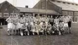1957 - DAVID GARDNER, COLLINGWOOD, 44 MESS, 58 CLASS, GANGES BOYS RUGBY TEAM V SHIP'S COMPANY, P..jpg