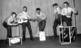 1957 - DAVID GARDNER, COLLINGWOOD, 44 MESS, 58 CLASS, OUR SKIFFLE GROUP, LOU, TAFFY, ME, RALPH AND ERIC, N..jpg