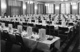 1982 - DICKIE DOYLE, WARDROOM TABLES LAID UP FOR THE HMS GANGES ASSOCIATION REUNION.JPG