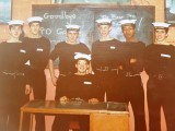 1974, 22ND OCTOBER - DAVE PATON, FEARLESS, 10 MESS, 513 CLASS, GOODBYE TO INSTR. PO GARVEY.