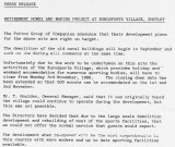1986 - DICKIE DOYLE, PROPOSED PRESS RELEASE BY J. HUTCHINGSON OF POTTONS RE FUTURE OF GANGES SITE.jpg