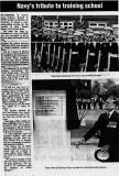 1989, 22ND APRIL - DICKIE DOYLE, DEDICATION OF THE MAST, R.A. G. PLACE. V.C., PAST CAPT. OF HMS GANGES, UNVEILS THE PLAQUE