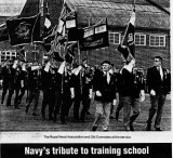 1989, 22ND APRIL - DICKIE DOYLE, DEDICATION OF THE MAST, RNA AND OLD COMRADES ASS. AT THE SERVICE.jpg