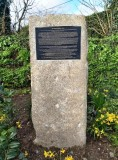 2020, 5TH MARCH - TONY WILDERS, GRANITE PLINTH AND PLAQUE AT MYLOR. SEE BELOW FOR MORE INFORMATION.