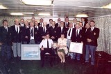 1996-97 - DICKIE DOYLE, GANGES BOYS AT SEA IN INVINCIBLE, WITH CAPT. ROY CLARE, GANGES BOY IN 1966, DUNCAN DIV..jpg