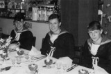 1966-67 - PHILLIP LAWRENCE WHITEMAN, KEPPEL, 4 MESS, PO DARBY ALLEN'S WEDDING, 3 OF US WERE CHOSEN AS GUARD OF HONOUR. B.