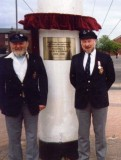 1989 22ND APRIL - DICKIE DOYLE AND GEOFF HILL AFTER THE DEDICATION CEREMONY.jpg