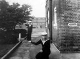 1964, 22ND SEPTEMBER - DAVID STOKES, 71 RECR., DRAKE, WITH HIS LITTLE FRIEND JONAH.jpg