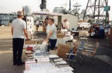 1990 - DICKIE DOYLE AND WIFE EILEEN AT NAVY DAYS PORTSMOUTH, MANNING THE SLOPROOM TO RAISE FUNDS FOR REFITTING THE MAST, D.