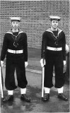 1966 , JANUARY - DAVID STEPHENS, 82 RECR., DRAKE, 38 MESS, I AM ON THE RIGHT AND MY OPPO ON THE LEFT.jpg