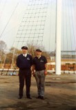 1991 - DICKIE DOYLE, REPAINTING OF MAST, MISSION ACCOMPLISHED, GEOFF AND DICKIE.jpg