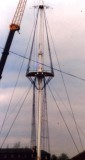 1988 - DICKIE DOYLE, MAIN MAST BEING RE-STEPPED IN PREPARATION FOR THE YARDS TO BE REFITTED.jpg