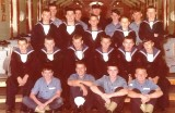 1972, FEBRUARY - STEPHEN YOUNG, 32 RECR., BLAKE, 6 MESS, 321 CLASS, I AM 3RD ROW ON LEFT HAND END, YEOMAN CHAMBERS, SEE BELOW