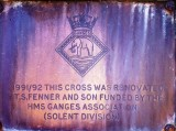 2020, APRIL - JIM WORLDING, PHOTO OF THE PLAQUE ON THE GANGES CROSS OUTSDIE GUILDFORD CATHEDRAL, SURREY, SEE BELOW.jpg