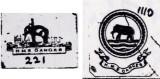 1910 AND 1926 - DICKIE DOYLE, GANGES SHIPS BADGES.jpg