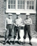 1964, 2ND JUNE - PETER COOPER, KEPPEL 2 MESS, 41 CLASS, KEVIN FARNES, PETE HUBBLE AND MYSELF.jpg