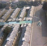 1970, 20TH APRIL - ALAN EARP, 17 RECR., ANSON, 26 MESS, THE QUARTER DECK, LONG COVERED WAY AND MESSES AS SEEN FROM THE MAST