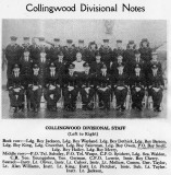 1949 - DICKIE DOYLE, EXTRACT FROM EASTER SHOTLEY MAG., COLLINGWOOD DIVISIONAL STAFF, INCLUDES P.O. BOY SNELL.jpg