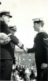 1966 - ROY MITCHELL, RECEIVING THE CHAMPIONS CUP FOR SAILING FROM CAPT. WATSON.jpg
