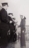 1966, 8TH AUGUST - ROY BAGSIE BAKER, COLLINGWOOD, 362 CLASS, RECEIVING THE CRICKET CHAMPIONS CUP, 16..jpg