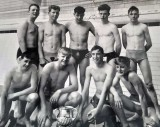 1964 - ANDREW LAYBOURN, ANSON, 170 CLASS, ANSON SWIMMING TEAM WITH TROPHY, CAKE TO FOLLOW.jpg
