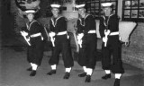 1965, APRIL - MARTIN HOLDEN, 75 RECR., COLLINGWOOD, 35 MESS, GUARD MEMBERS IN NELSON HALL.jpg