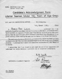 1961, 1ST MARCH - ROY LUCK, ACKNOWLEDGEMENT FORM.jpg