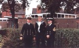1971, 7TH JUNE - PETER WARD, 25 RECR., I AM ON THE RIGHT, LITTLE BROTHER IN THE MIDDLE AND BIG BROTHER IS ON THE LEFT