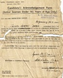1957, 5TH JANUARY - JIM DEAN, SIGNING ON FORM.jpg