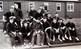 1961, NOVEMBER - DAVID BRIGHTON 45 RECR., COLLINGWOOD, 43 MESS, 391 CLASS AFTER CROSS COUNTRY RUN.jpg