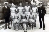 UNDATED - WATER POLO TEAM WITH INSTRUCTOR AND OFFICER, DONATED BY JIM WORLDING.jpg