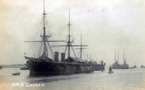 UNDATED - JIM WORLDING, HMS GANGES WITH SUBMARINE PASSING.jpg
