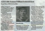 2020, 3RD SEPTEMBER - BILL KENT, 'WILLIAM KENT WAS NOT A RELATION' - DATE IS WHEN BILL POSTED THIS NEWSPAPER CUTTING ON F.B.
