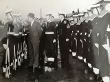 1960, 3RD MAY - GEORGE MITCHELL, GUARD INSPECTION BY LORD CARRINGTON, 1ST LORD OF THE ADMIRALTY.jpg