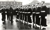 1966-67 - STEVE R.L. MULLINS, GRENVILLE, 134 CLASS, CAPTAINS GUARD, I'M 2ND FROM RIGHT, GUARD COMMANDER IS WATSON.jpg