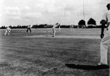 UNDATED - DICKIE DOYLE, SHIPS COMPANY CRICKET MATCH, NOTE THE SIGNAL TRAINING MAST BY THE IPSWICH ROAD.JPG