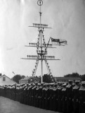 UNDATED - THE MANNED MAST,  WITH BOYS LINING THE PARADE GROUND..jpg