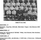 1965, 26TH JULY - DAVID CLEMENTS, 77 RECR., EXMOUTH, 242 CLASS, NAMES BELOW PHOTO.jpg
