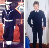 1974, 19TH NOVEMBER - JOHN YOUNG AND AS A YEOMAN PRIOR TO DISCHARGE FROM NORTHWOOD IN 1988, 01.