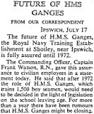 1905-2005 - DICKIE DOYLE, PRESS CUTTINGS RE. GANGES, BOYS TRAINING, THEIR PAY AND CONDITIONS ETC., TIMES 18.07.1967.jpg