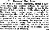 1905-2005 - DICKIE DOYLE, PRESS CUTTINGS RE. GANGES, BOYS TRAINING, THEIR PAY AND CONDITIONS ETC., TIMES 23.01.1925,