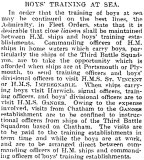 1905-2005 - DICKIE DOYLE, PRESS CUTTINGS RE. GANGES, BOYS TRAINING, THEIR PAY AND CONDITIONS ETC., TIMES 26.11.1927.jpg