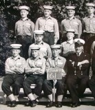 1964, 24TH AUGUST - EDWARD GUDGION, 70 RECR., RODNEY, 61 CLASS, I AM FRONT ROW 2ND FROM LEFT, CLOSE UP.jpg