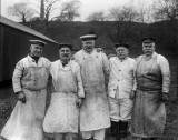 1914-1918 - FIVE OLDER MEMBERS, 50 T0 73 YEARS OLD, OF THE HARWICH MINESWEEPING FLEET, AT RNTE SHOTLEY