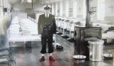 1958, 2ND AUGUST - JOHN HANKS, DUNCAN, 19 MESS, P.O. NICK CARTER, READY FOR CAPTAINS ROUNDS.jpg