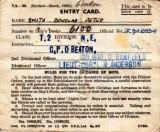 1954, 7TH SEPTEMBER - DOUG SMITH, ENTRY CARD.jpg